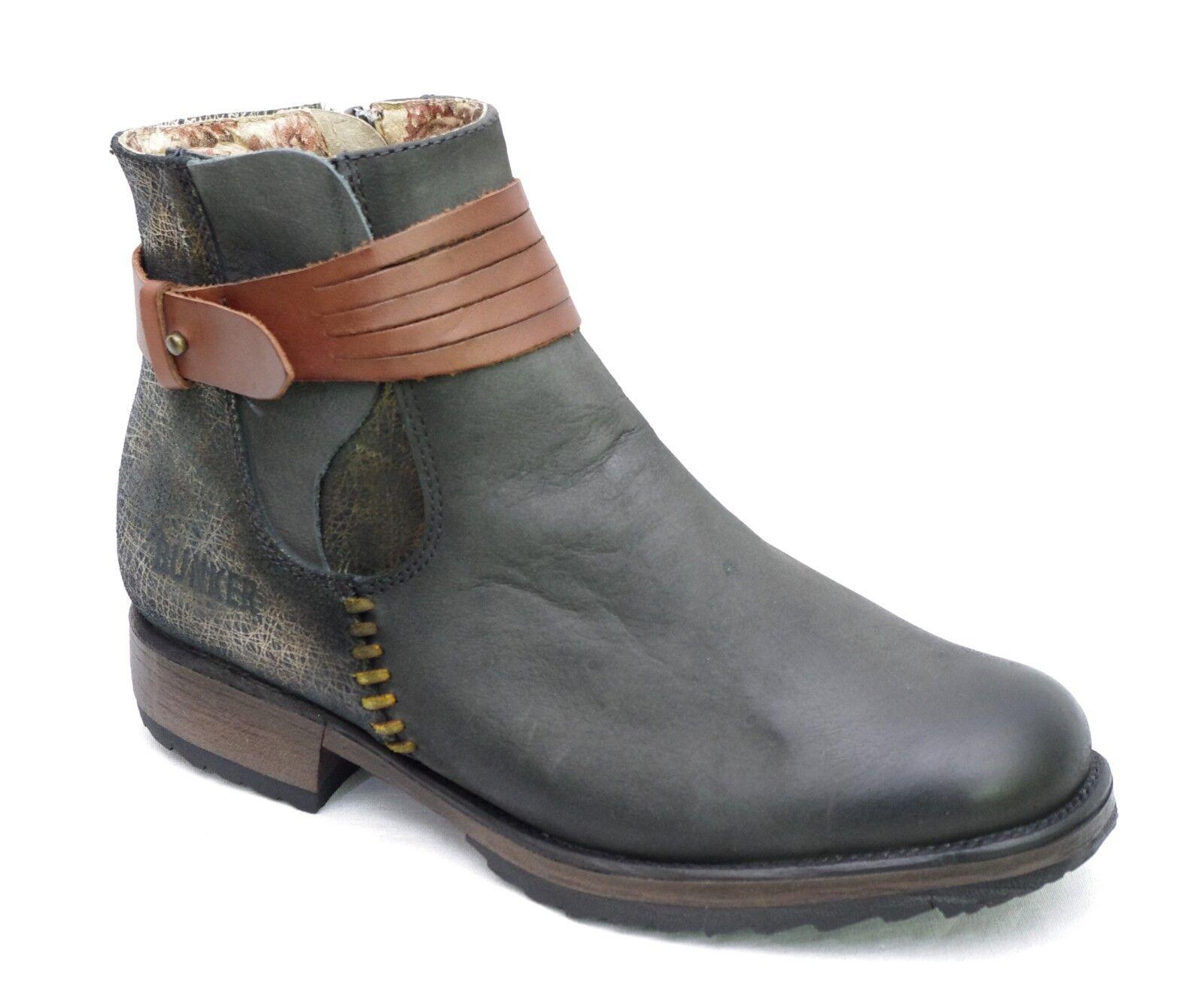 BUNKER bottines boots femme DUNG - NB1 Black coloris noir et or