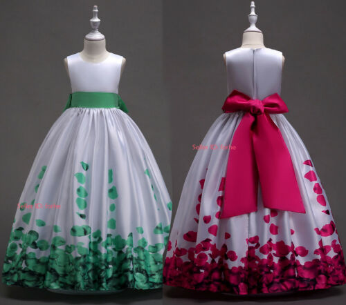 Girls Princess Flower Dress Party Pageant Prom Kids Wedding Bridesmaid Dress