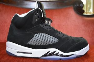 buy popular f9bb3 163d0 Details about WORN ONCE NIKE AIR JORDAN 5 RETRO OREO BLACK COOL GREY WHITE  SIZE 14 136027-035