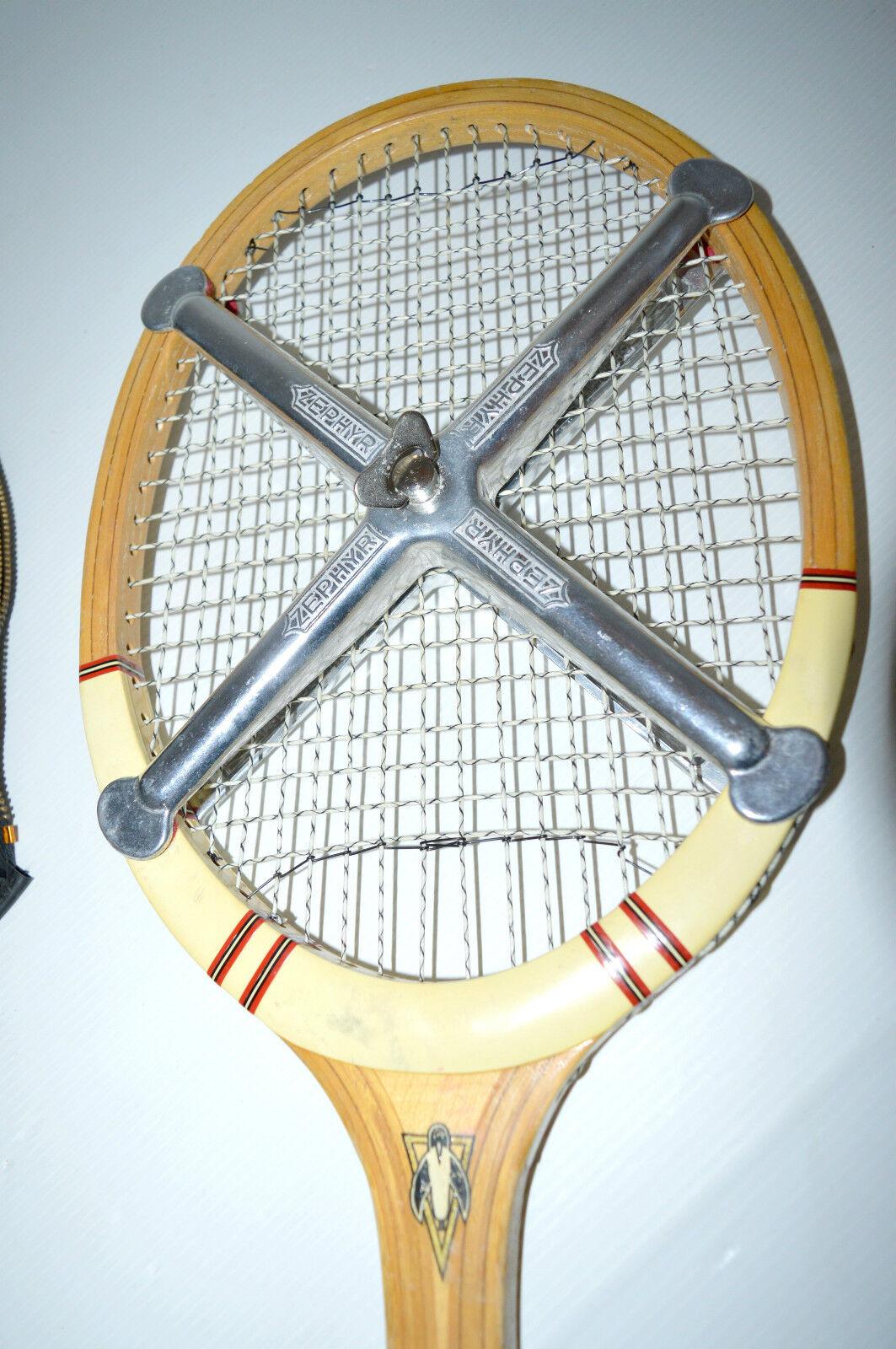 ANCIENNE RAQUETTE BOIS avec ANCIENNE PINGUIN ROYAL CLUB avec BOIS Housse et 4 Balles sport a7a0e6