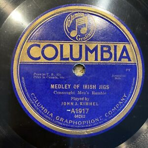 IRISH Jigs and Reels JOHN KIMMEL 78 rpm COLUMBIA A1917 V+ 1915