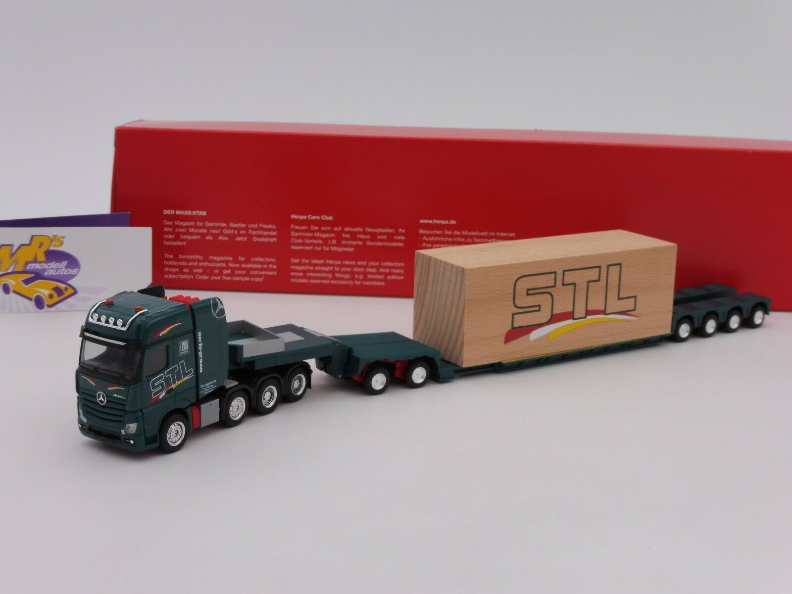 Herpa 310123   Mercedes  SLT Faible loading ARTICULATED LORRY WITH LOAD  STL Logistics  1 87  livraison gratuite