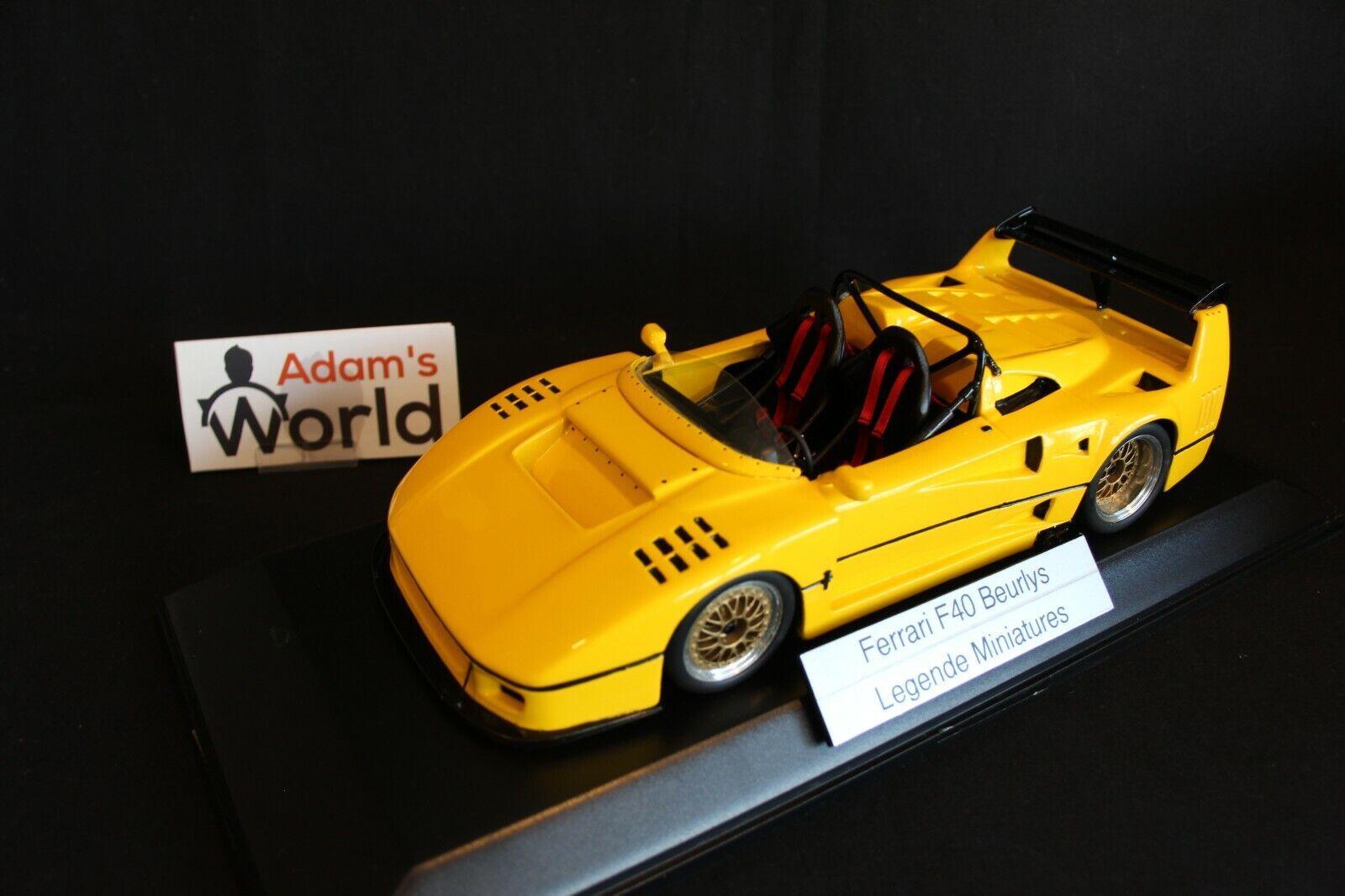 Legende Miniatures built kit resin Ferrari F40 Beurlys 1 18 Gelb (PJBB)
