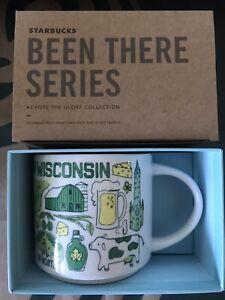 Starbucks Coffee Been There Series 14oz Mug WISCONSIN Cup w/SKU