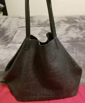 Carolina Herrera Monogram Handbag Matryoshka Tote Black Ebay