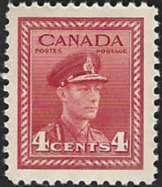 Canada  # 254  KING GEORGE VI WAR ISSUE    Brand New 1942 Original Pristine Gum