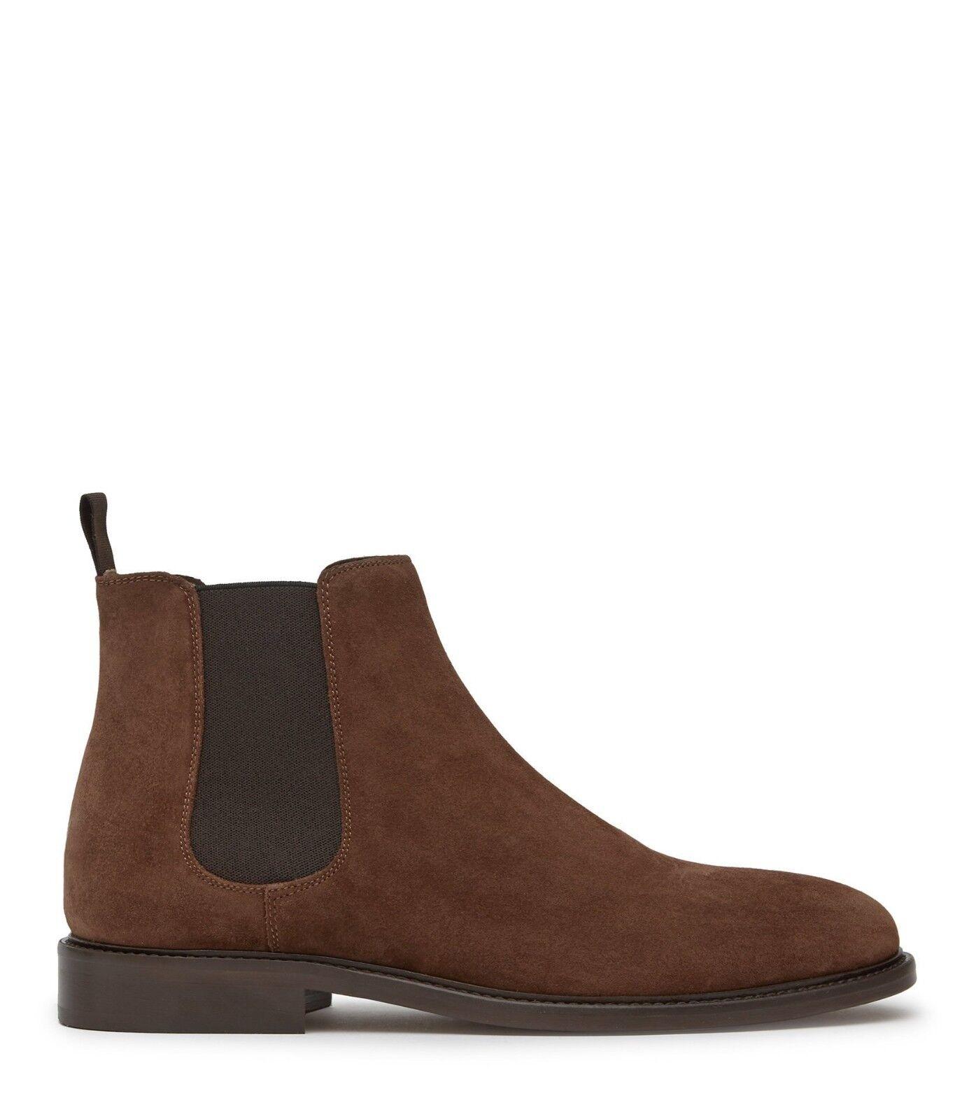 New Men's REISS Mid Brown Suede Chelsea Boots Size UK10 SLP Wyatt Made in