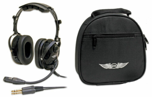 ASA AirClassics Headset HS-1A and ASA Single Headset Bag ASA-BAG-HS-1 Combo