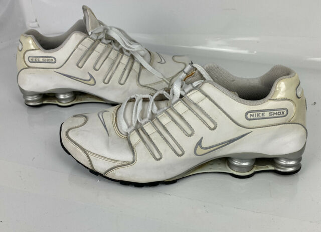Nike Shox NZ Men's White Leather Running Sneaker Shoes SL 366363-111 Size  11.5