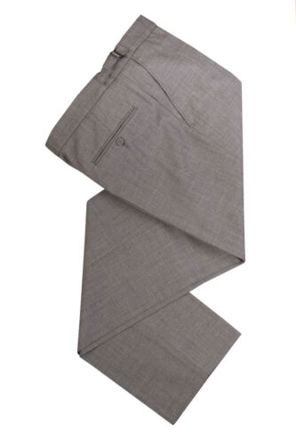 MENS EX HIRE SILVER GREY WOOL WEDDING SUIT TROUSERS SHORT LENGTH 27 28 29 30 /""