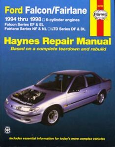haynes repair manual ford falcon ef el fairlane nf nl ebay rh ebay com au El Ford Falcon XR Ford BA Falcon