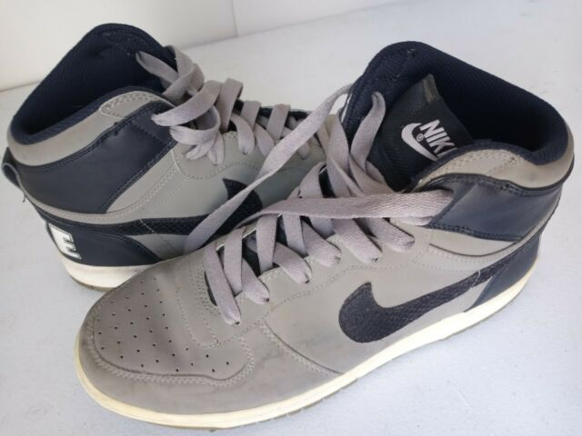 Nike Big Nike High Top Mens Size 12 Shoe Black Grey 336608-041 Sneaker