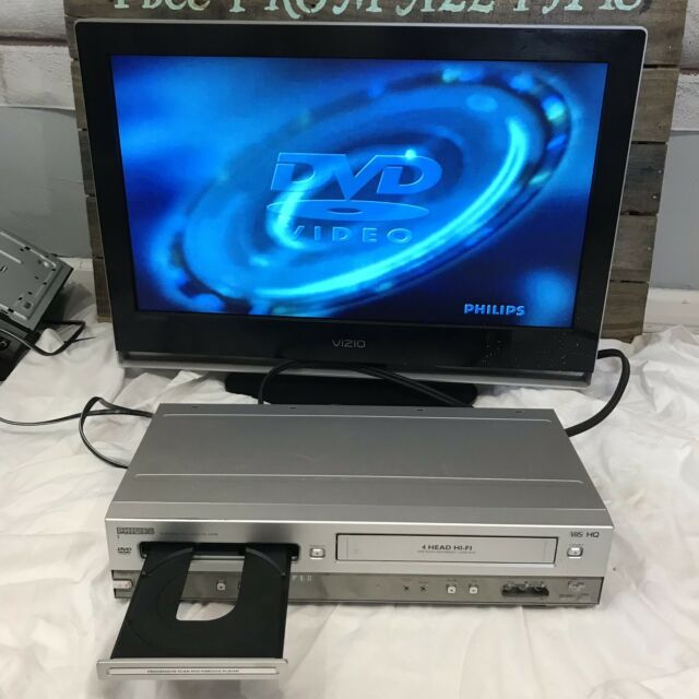 PHILIPS DVD750VR DVD VCR Combo Video Cassette Recorder Player (no remote) As Is