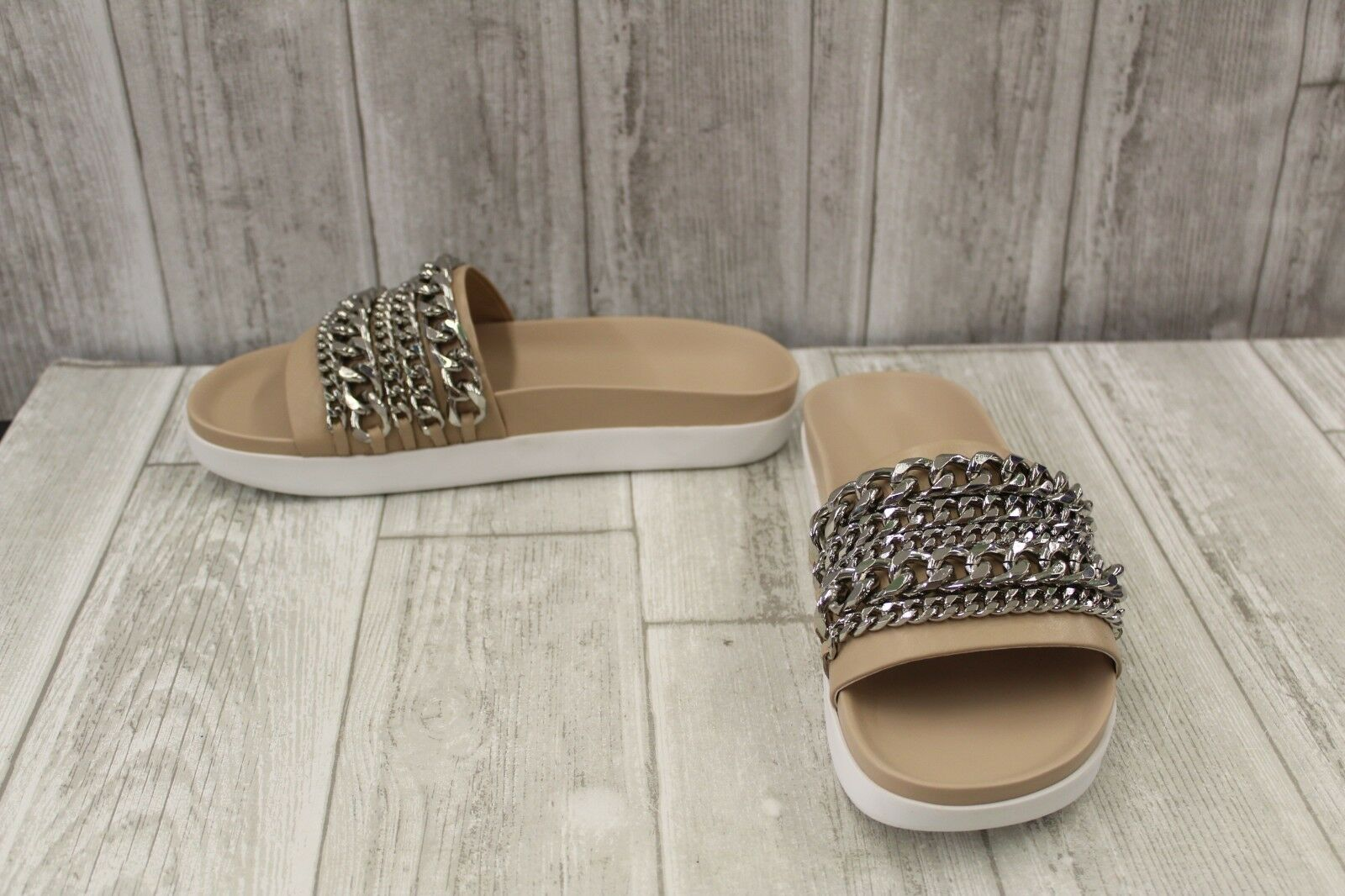 Kendall & Kylie Shiloh Chain Slide - Women's Size 8M Natural
