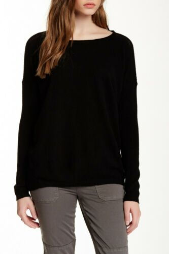 Vince. Women's Cashmere Perforated Boatneck Long S