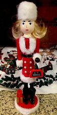 Pretty Woman Girl Nutcracker I Love Shoes Shopper Nutcracker Christmas Decor 15""