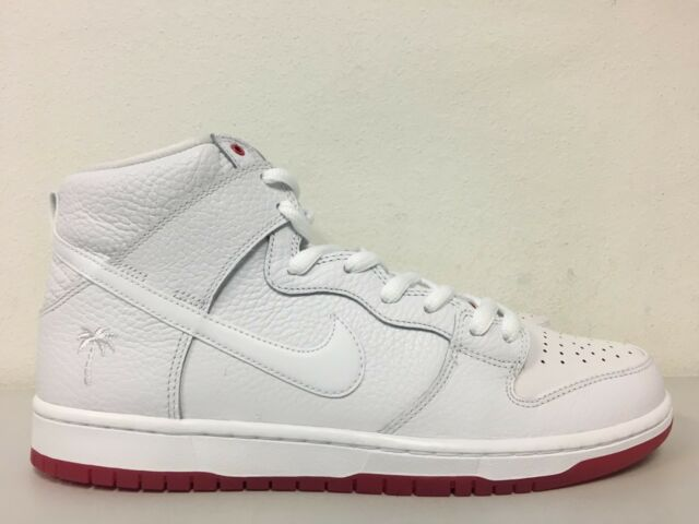 finest selection 3192a 8b5dd Nike SB Zoom Dunk High Pro QS Kevin Bradley White Red Ah9613 116 Size 12