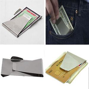 Metal Double Sided Money Cash Clip Pocket Slim ID Credit Card Money Clips Holder