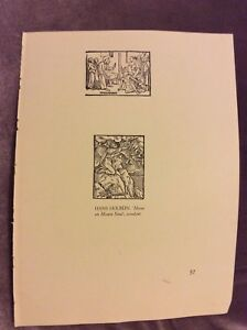 Vintage-Book-Print-Hans-Holbein-Moses-on-Mount-Sinai-Woodcut-1940s