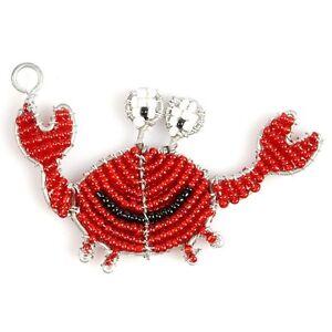 à Condition De Beadworx-crabe Porte-clés - Perles Travail Populaire Perles De Verre-afficher Le Titre D'origine ExtrêMement Efficace Pour Conserver La Chaleur