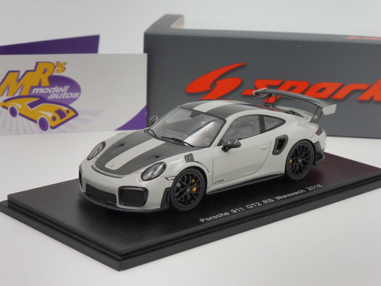 Spark S7624 Porsche 911 GT2 RS Weissach Baujahr 2018 in   grey   1 43 NEU