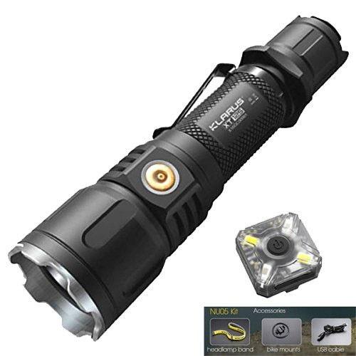 Klarus XT12S rechargeable lampe de poche -1600 LM-Batterie Incluse Avec Gratuit Kit NU05