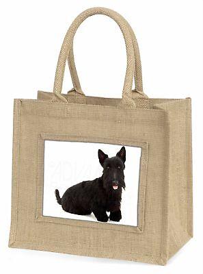Scottish Terrier große natürliche jute-einkaufstasche Weihnachten Geschenkidee,