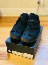 9244f9ba6 Adidas Y-3 Qasa High Black Leather Shoes Sneakers SZ 10.5 Yohji Yamamoto  Triple