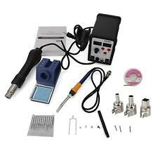 2in1 898d Smd Soldering Iron Hot Air Rework Station Hot Air Gun Digital Display