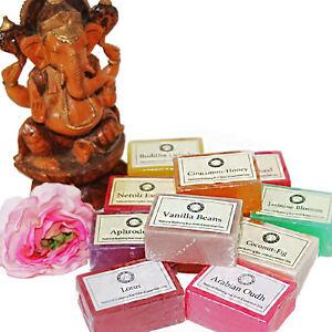 Seife-Pflanzenseife-Duft-Seifenstueck-1-x-125g-Indien-Glycerin-Oil-Soap-vegan