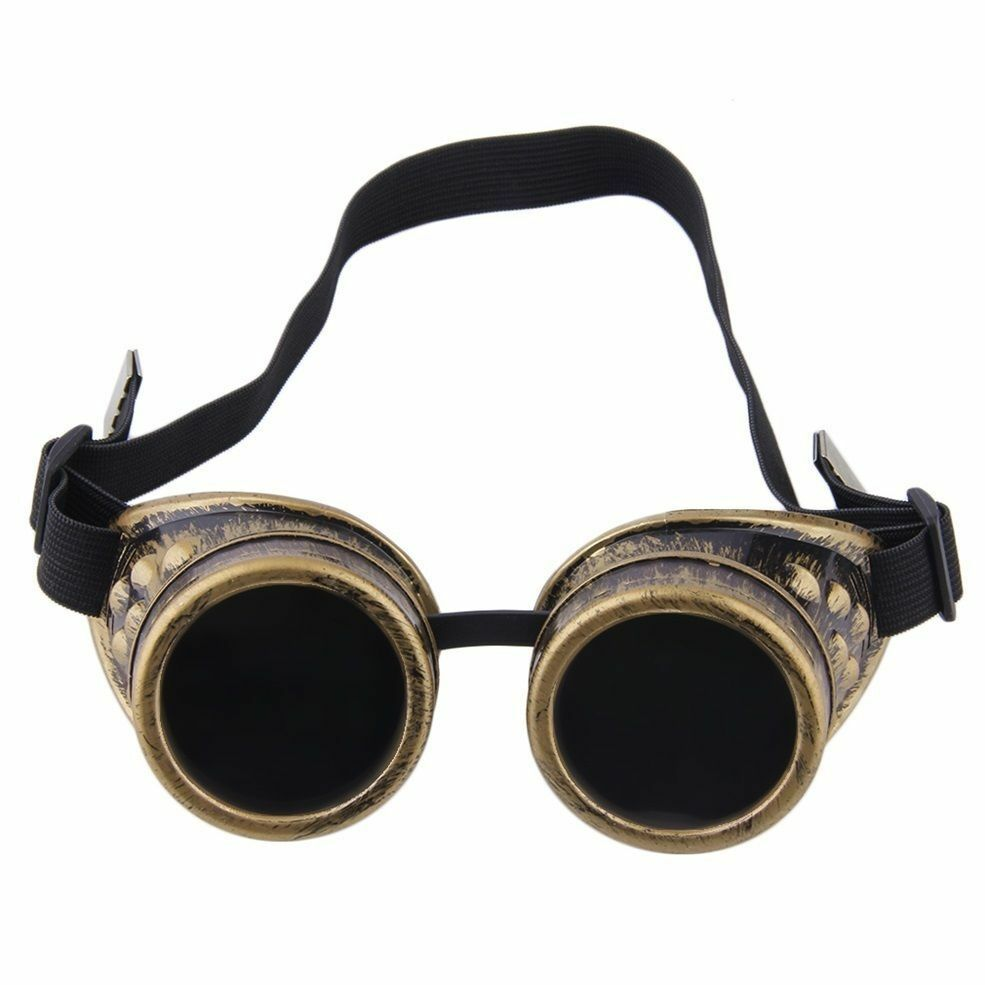 2219bf826b Details about steampunk goggles vampire welding crazy scientist gothic  cosplay costume glasses jpg 985x985 Crazy goggles