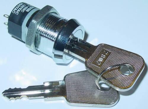 Brass Keyswitch Massive Chromed Aus S118s 2-pin 250v//2a/_2 x Ein