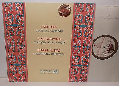ASD 263 Prokofiev Sym. No.1 & Shostakovich Sym. No.1 Philharmonia Kurtz C/G