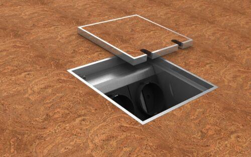 Nervure couvercle en acier inoxydable 2 positions Sol Prise de courant irréfutables 7 mm 8802 T