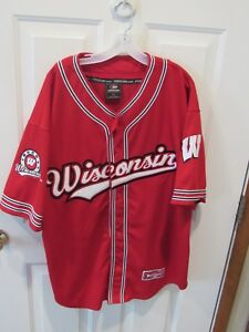 save off 8825c 37470 Details about Colosseum Athletics Wisconsin Badgers NCAA Baseball 2 Jersey  LOT men's size XL