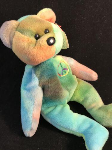 b7a5ae3eb85 2 of 8 RARE PVC Peace Bear 1996 Retired Ty Beanie Baby Genuine MINOR Errors