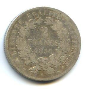 II Republic (1848-1852) 2 Francs Cérès 1850 Paris