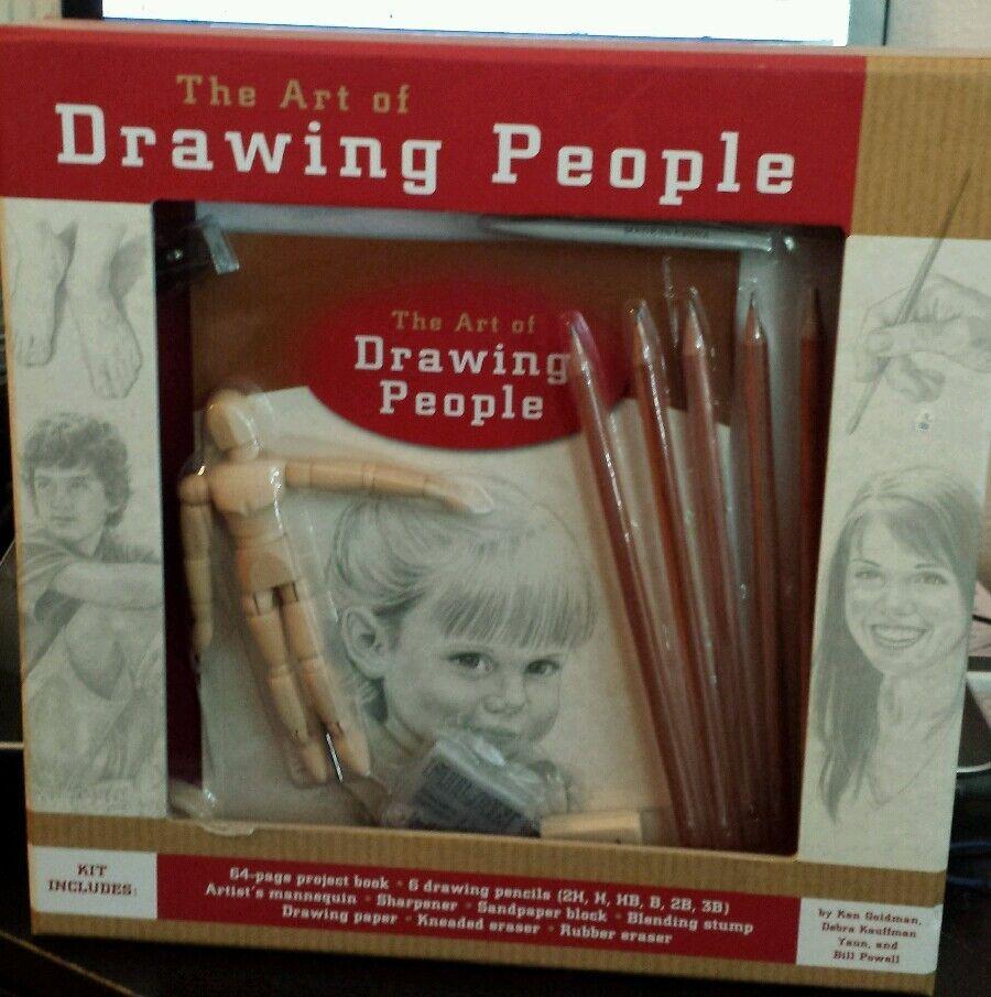 THE ART OF DRAWING PEOPLE KIT - NEW IN BOX by Ken goldman Debra Kauffman Yaun