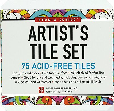 Studio Series Artist's Tiles: White (75 pack, Zentangle) by Peter Pauper Press