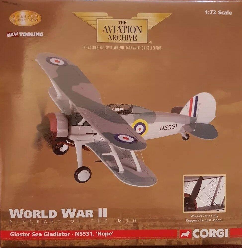 "Corgi Aviation Gloster Gladiator N5519 ""Hope"" Hal Far Fighter Flight AA36203"