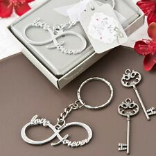 60 Infinity Love & Forever Silver Metal Key Chain Wedding Shower Gift Favors