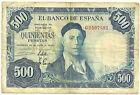 BILLETE DE 500 PESETAS DE 1954 (BC) ZULOAGA (SIN SERIE)