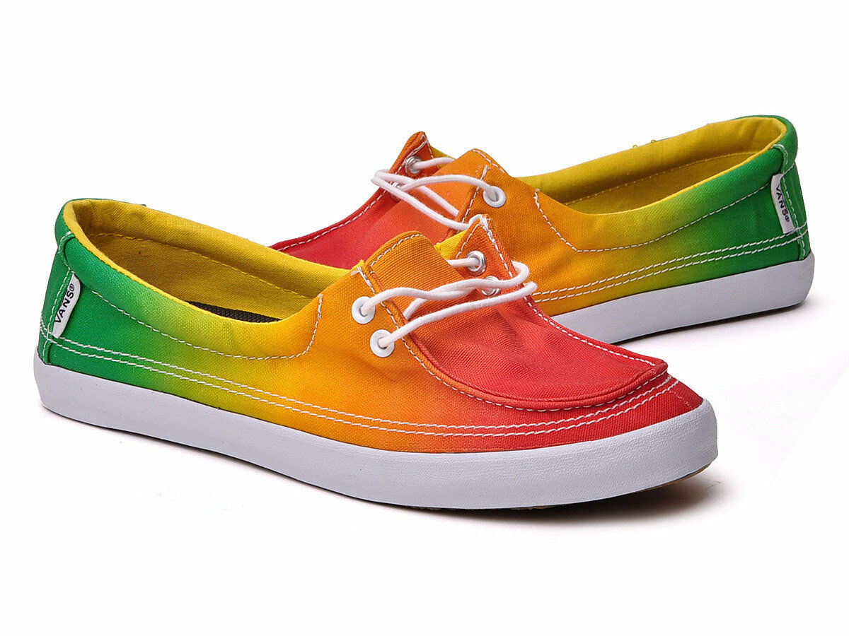 New Vans Womens Off The Wall Rhasta Green Surf Siders Rata Hemp shoes Flats Sz 5