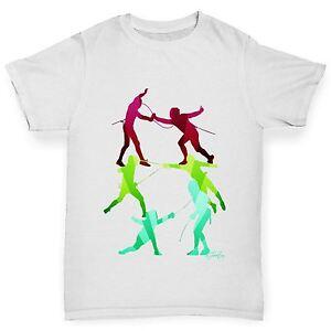 Twisted-Envy-Boy-039-s-Rainbow-escrime-T-shirt-en-coton