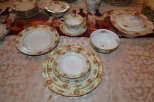 69 Pieces Black Knight Patricia 8 Setting + Extra Fine China Germany See Decrip