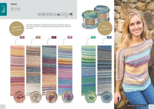 100 gr TAHITI  von Rellana 100 /% Baumwolle mit schönem Farbverlauf