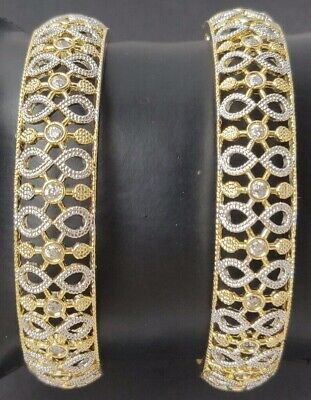 BRAND NEW BEAUTIFUL ZIRCONIA AMERICAN DIAMOND BANGLES MANY SIZES AVAILABLE #B8