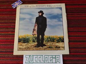 "Zucchero 12"" LP Wonderful World 33 Giri Vinile Senza una Donna Made in UK - Italia - Zucchero 12"" LP Wonderful World 33 Giri Vinile Senza una Donna Made in UK - Italia"