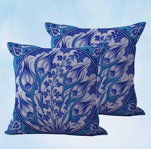 US SELLER-set of 2 couch with pillows retro  floral cushion cover