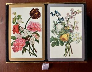 Vintage-CONGRESS-Cel-U-Tone-Playing-Cards-Floral-Flowers-Deck-Set-Gift-Quality